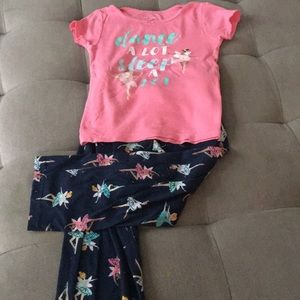 Carters fairy ballerina pyjamas 4T